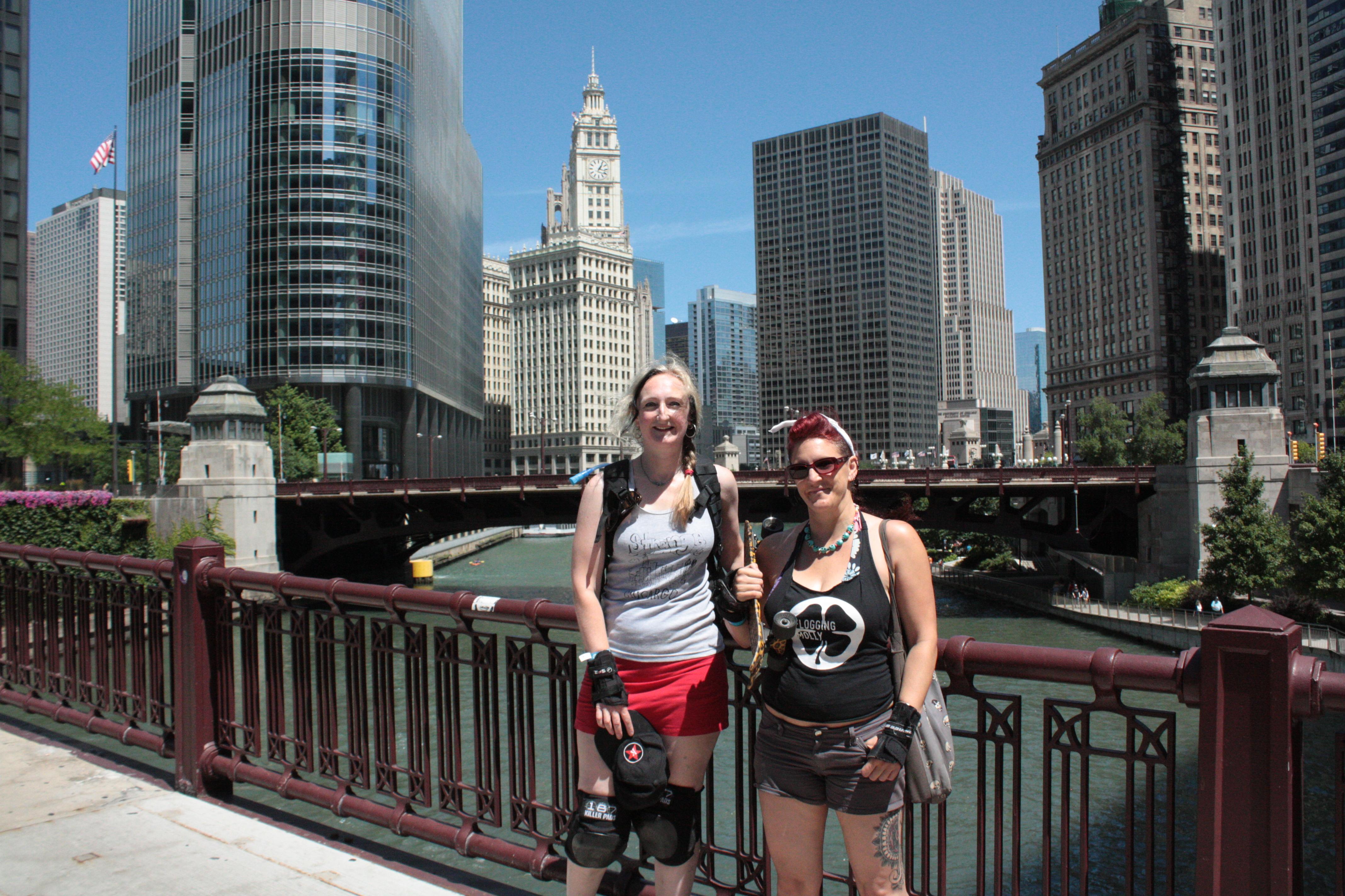 Me & Gab exploring Chicago