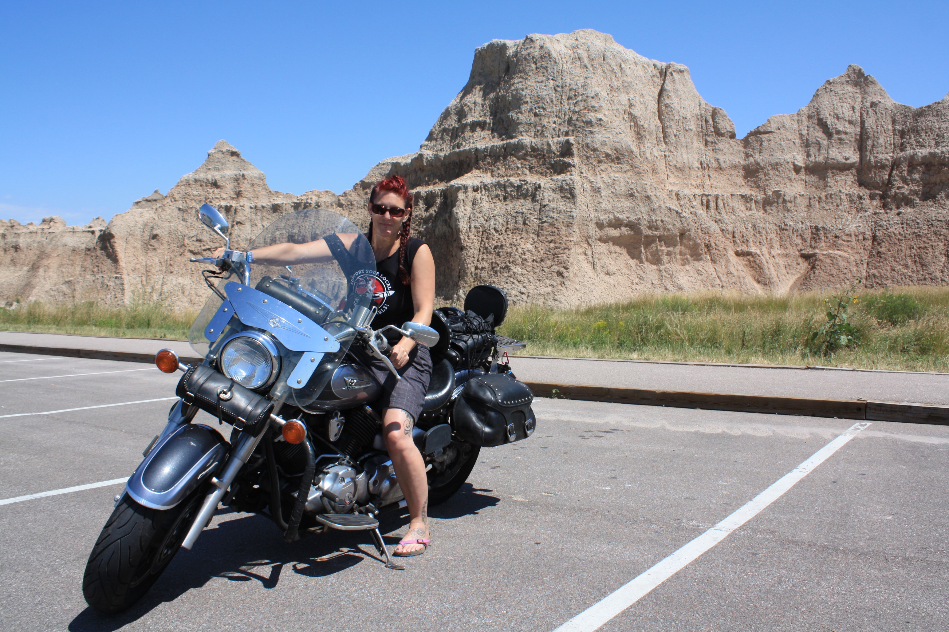 Posing at Badlands