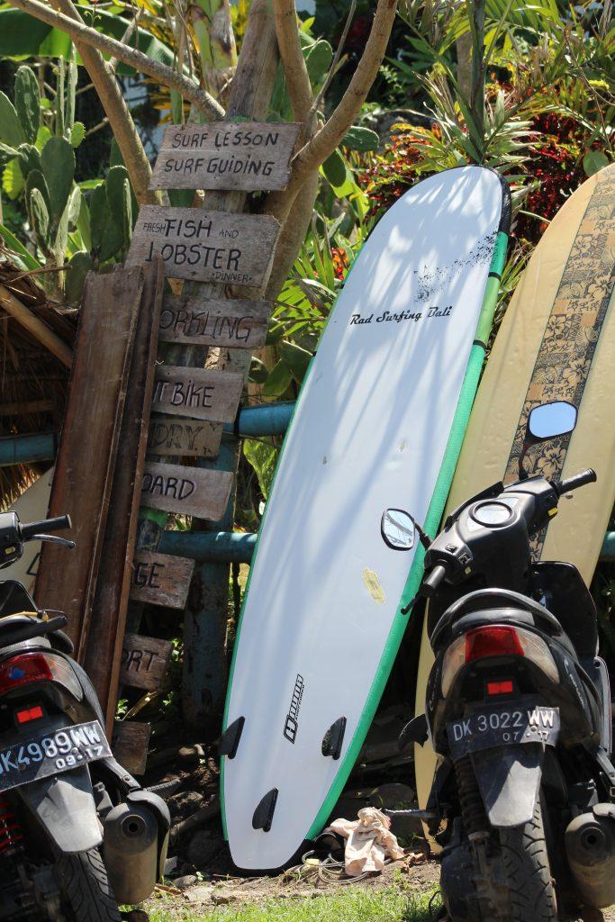 Surfboards outside Dikaloha