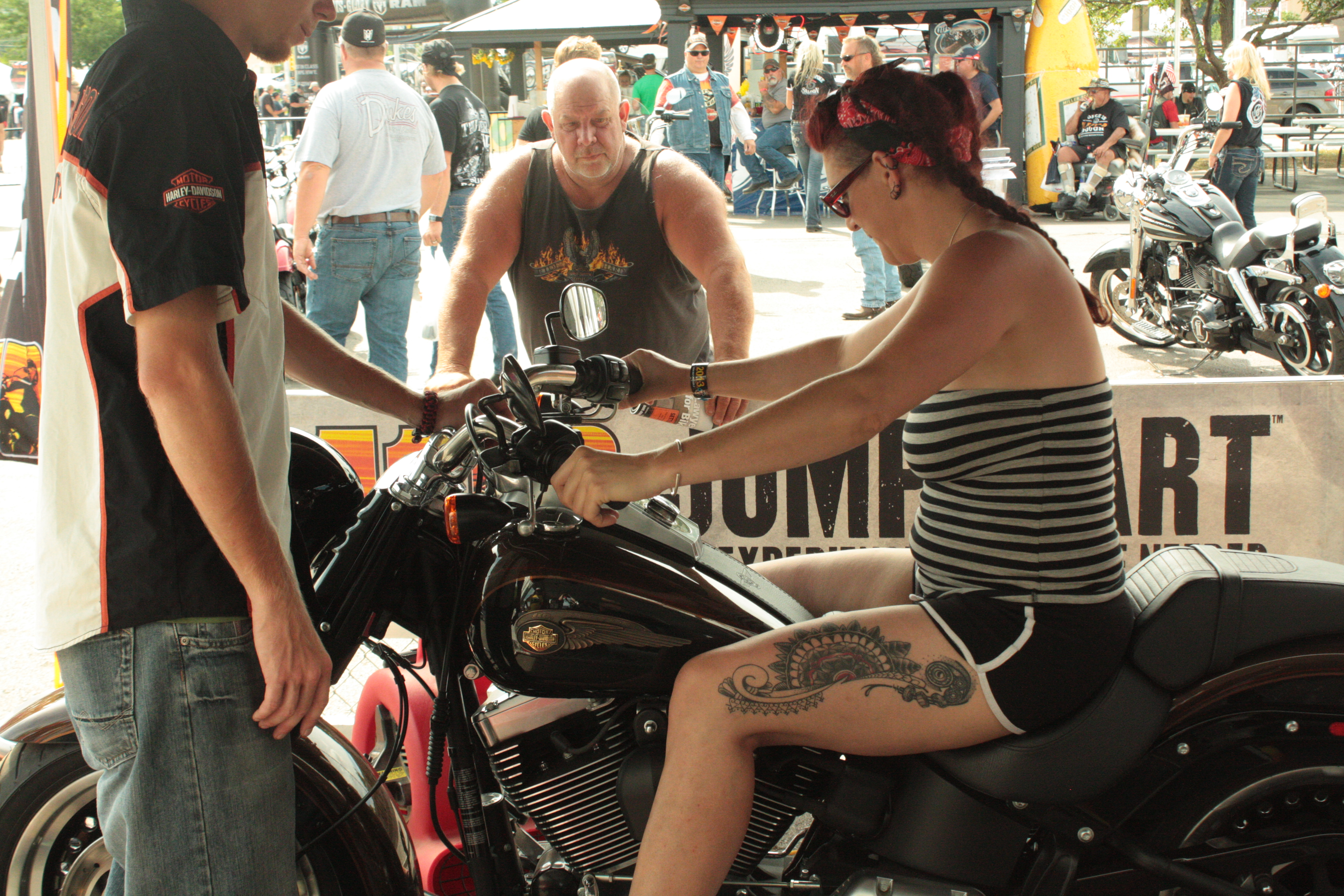Learning to ride a Harley!