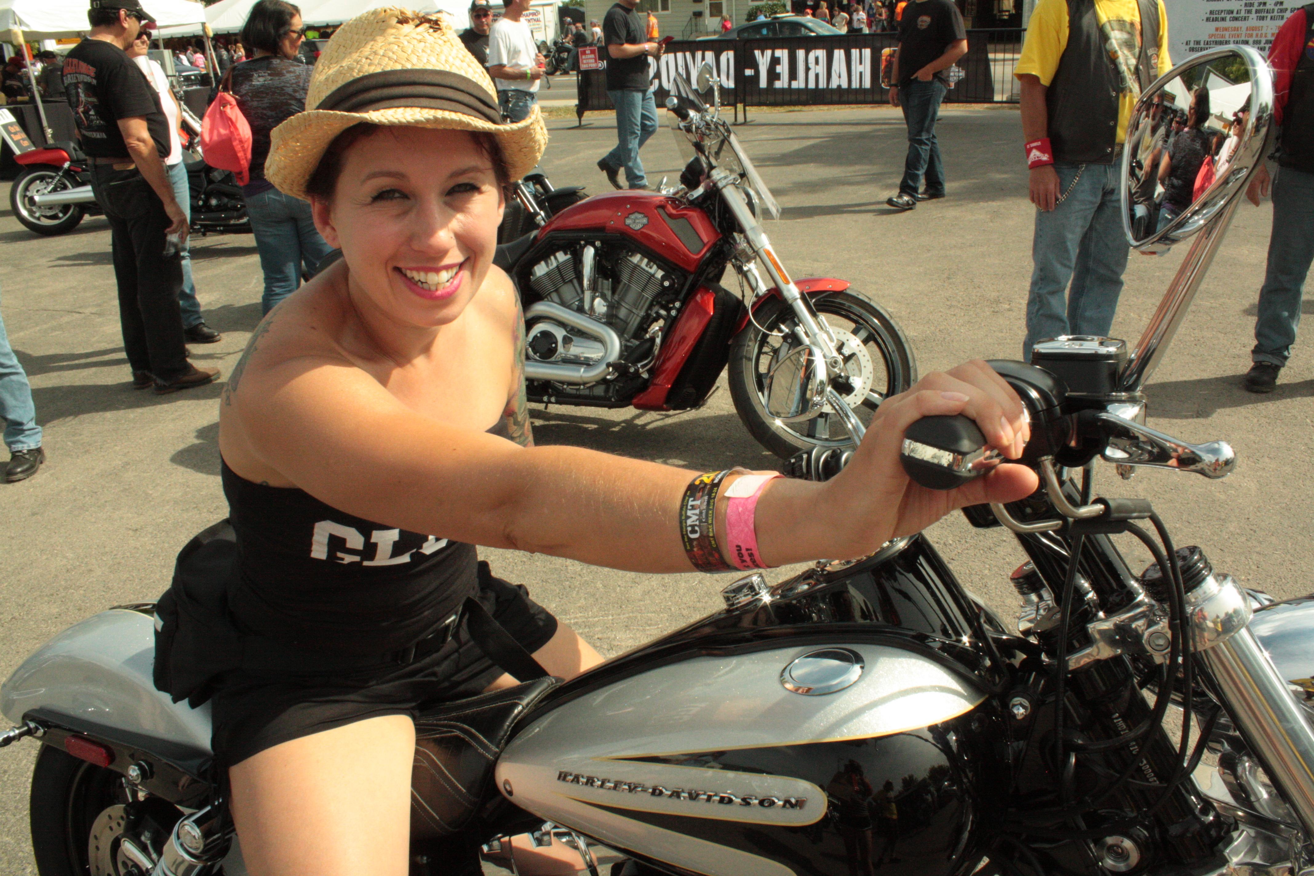 Noush on a bike
