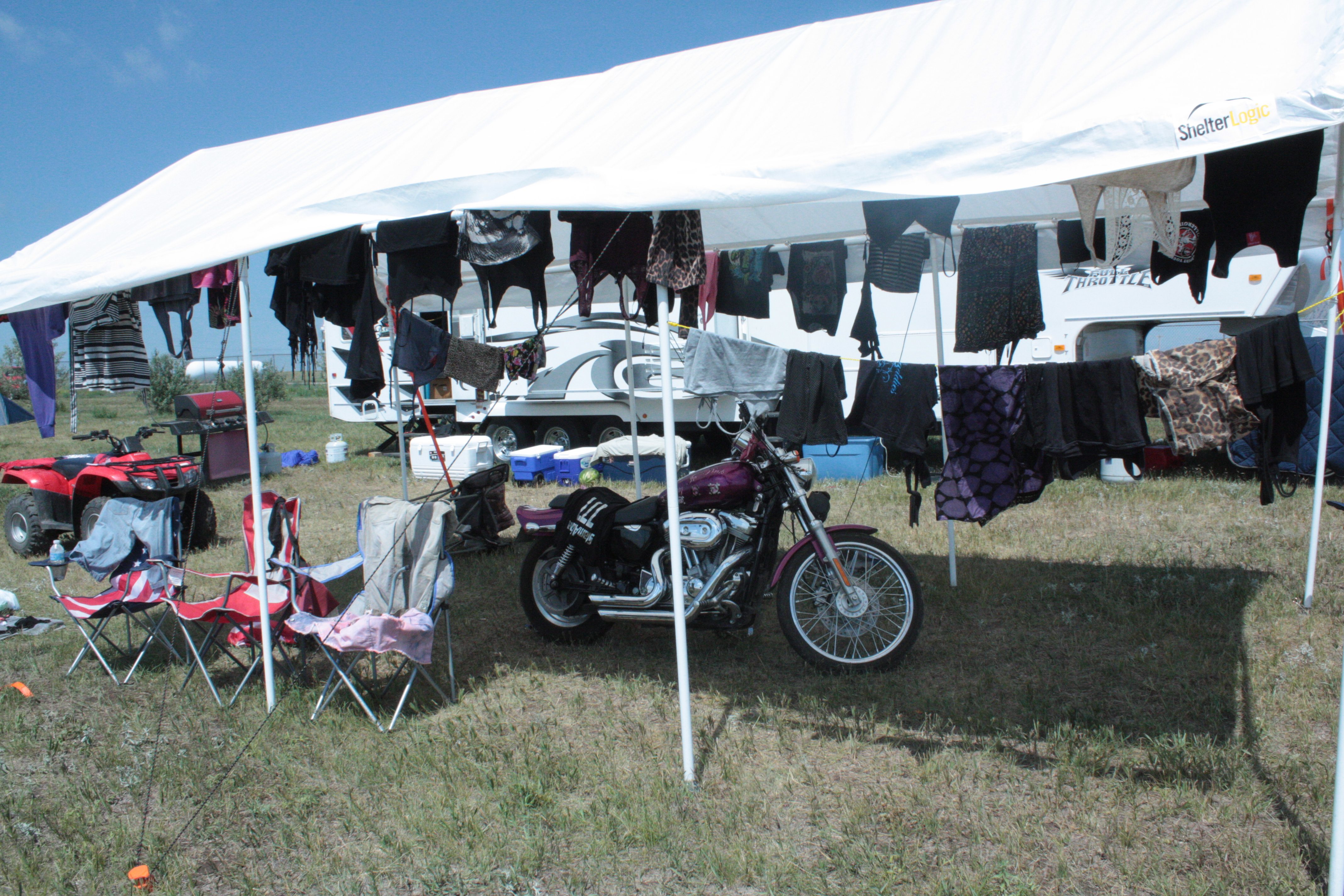 Drying out clothes after the storm