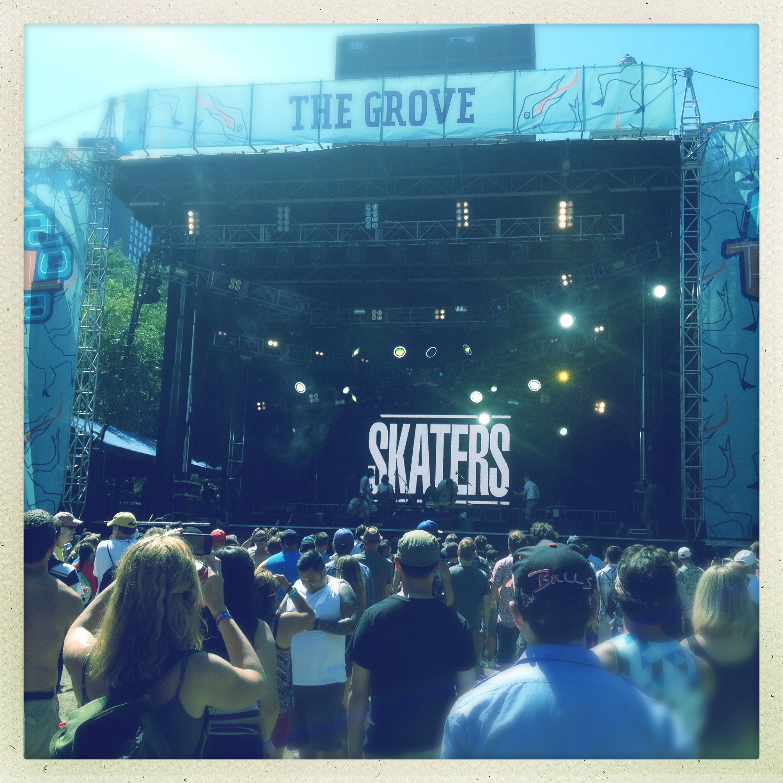 Skaters band at Lollapalooza