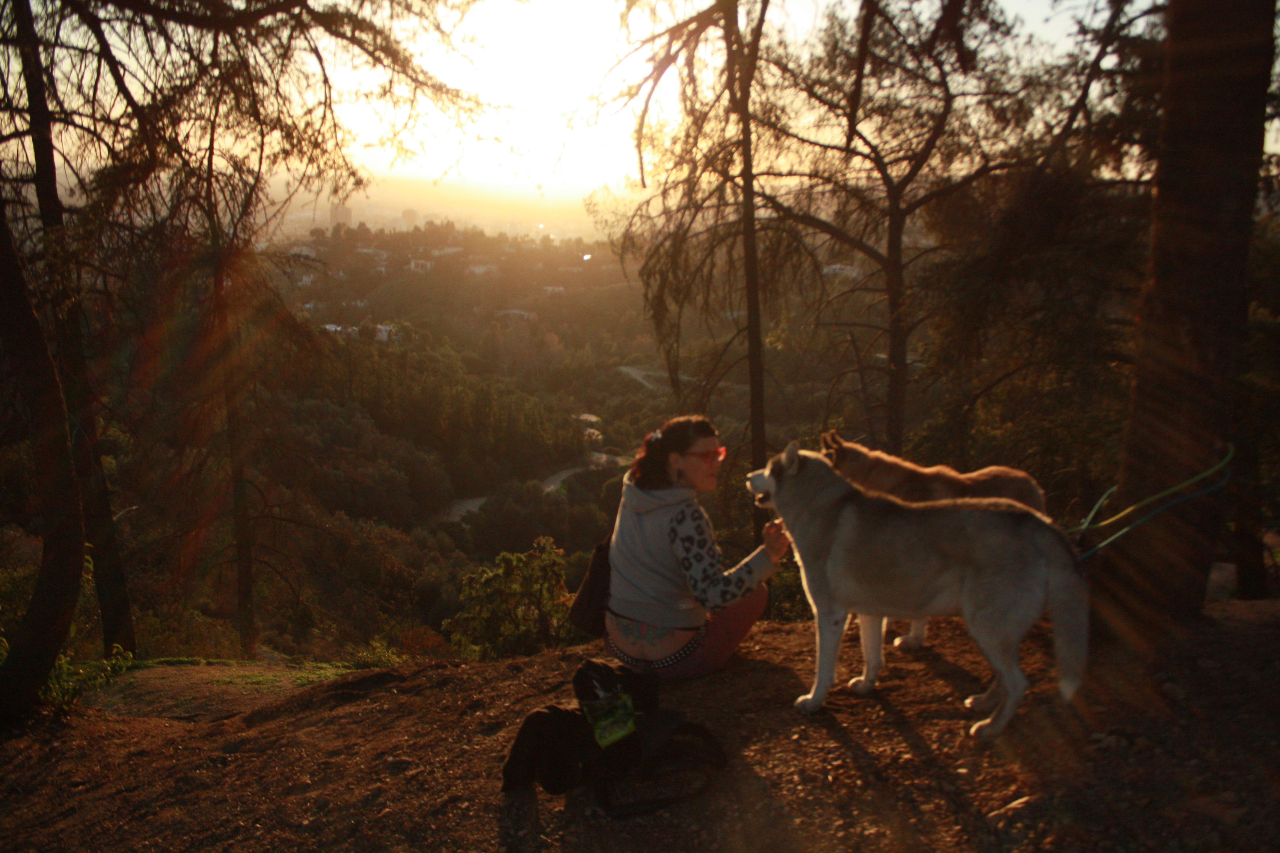 Watching sunset over LA