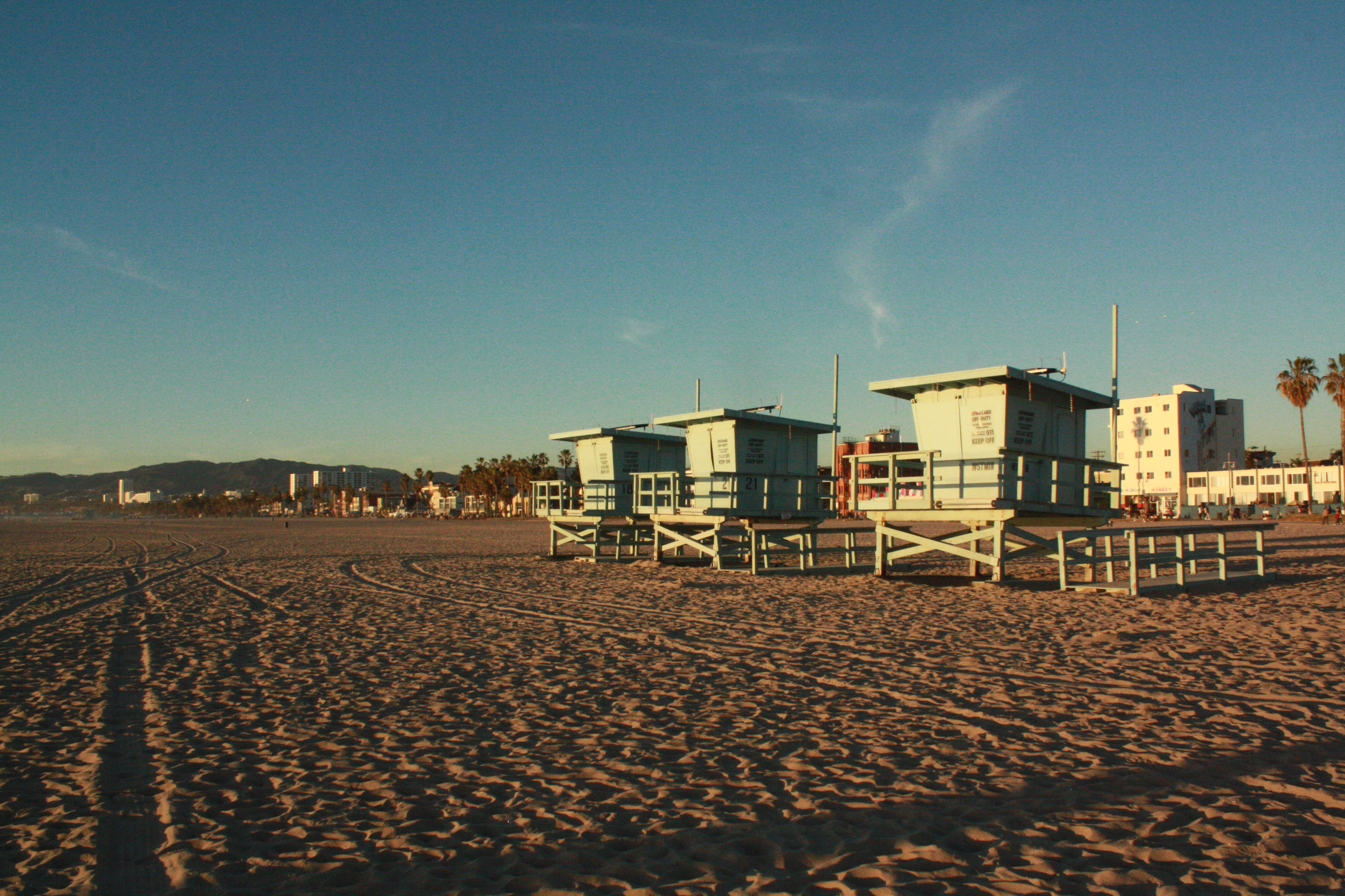 Beach huts on Venice Beach