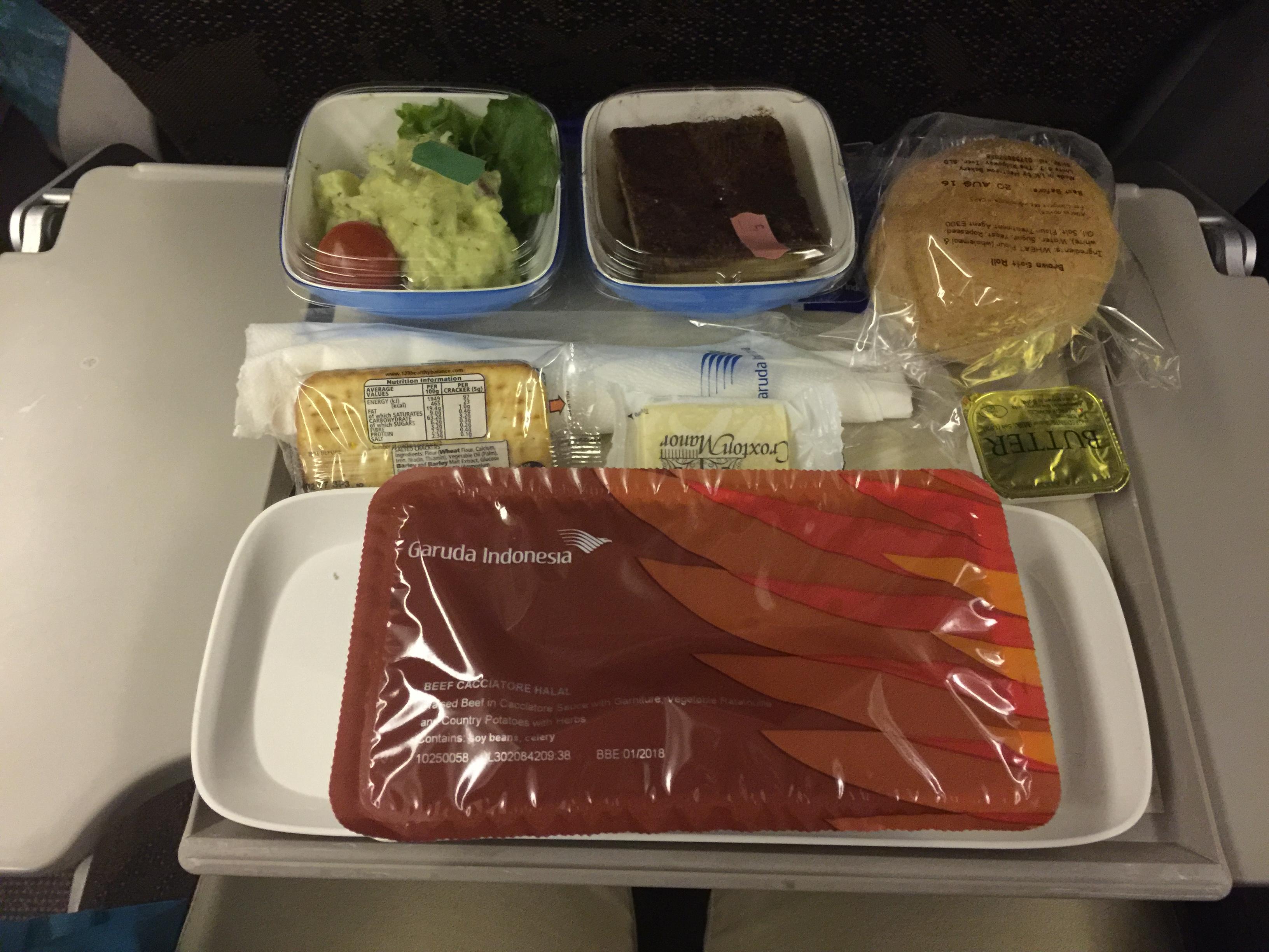 Garuda Indonesian Plane Food