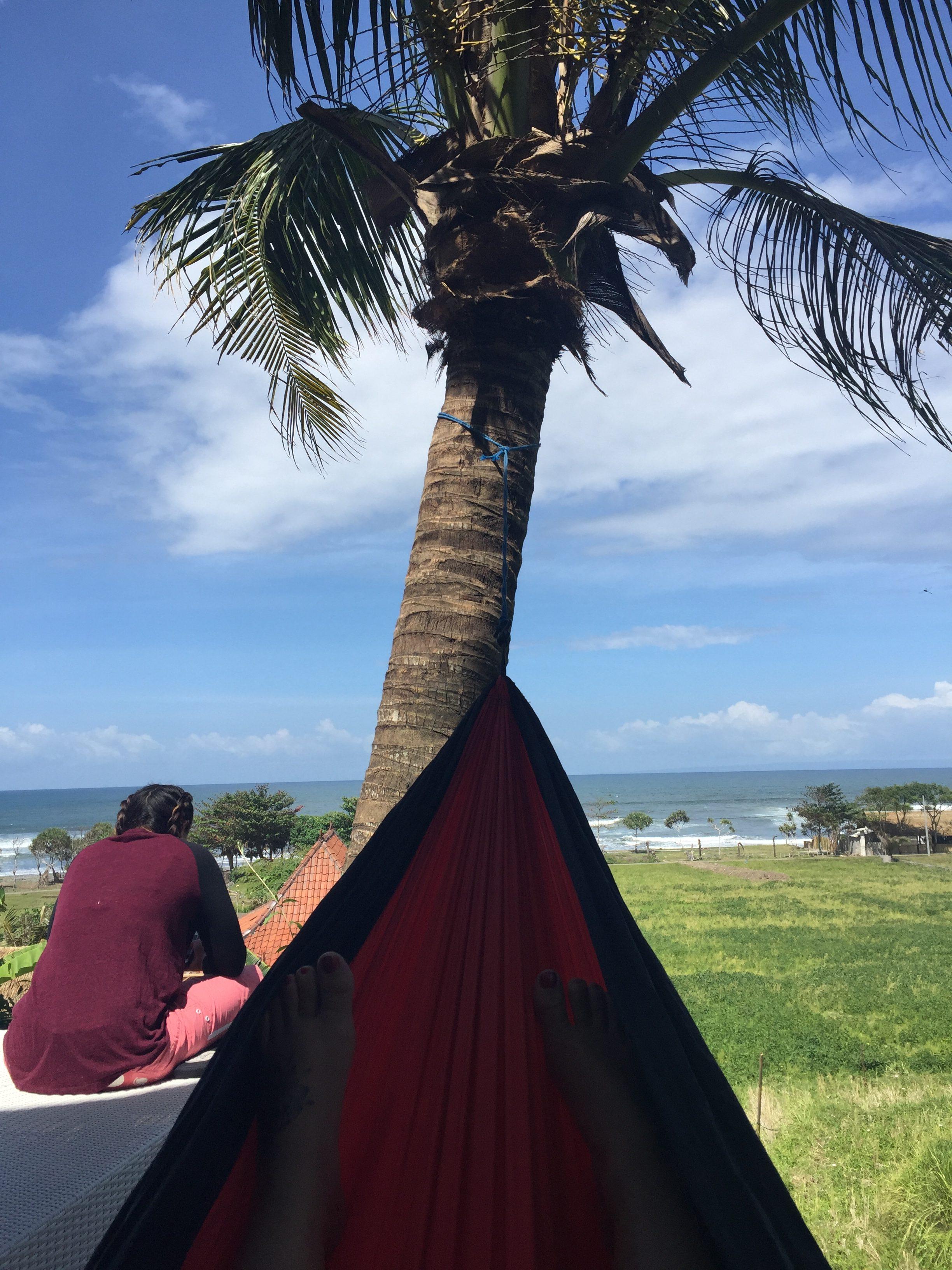 Chilling in the hammock