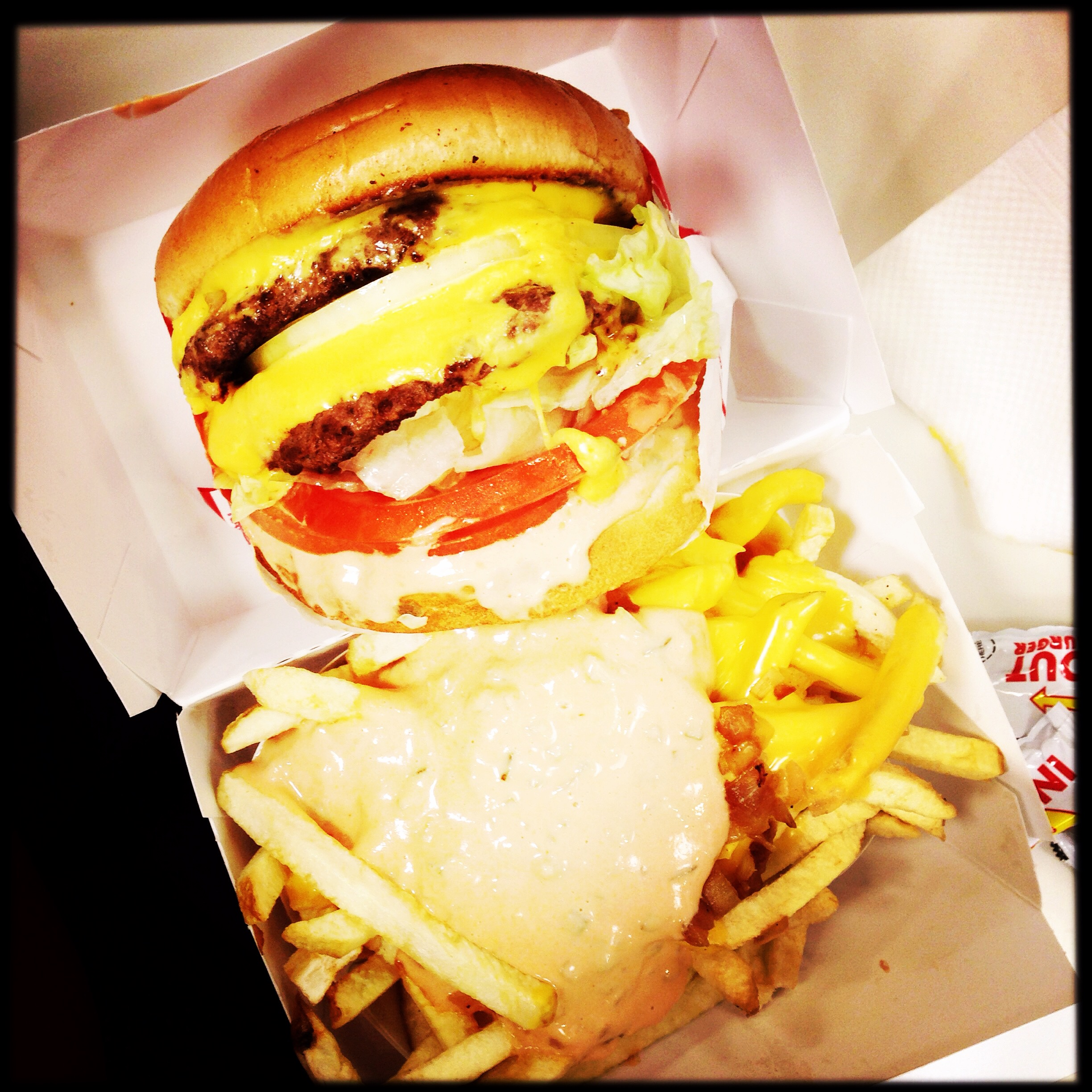 In & Out burger & fries