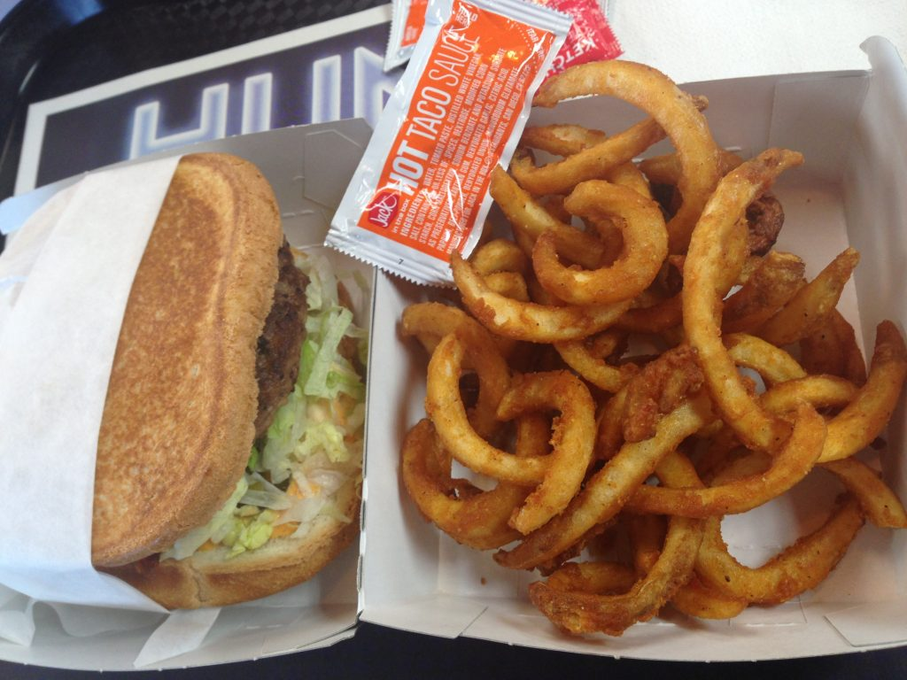 Jack in the Box burger & fries