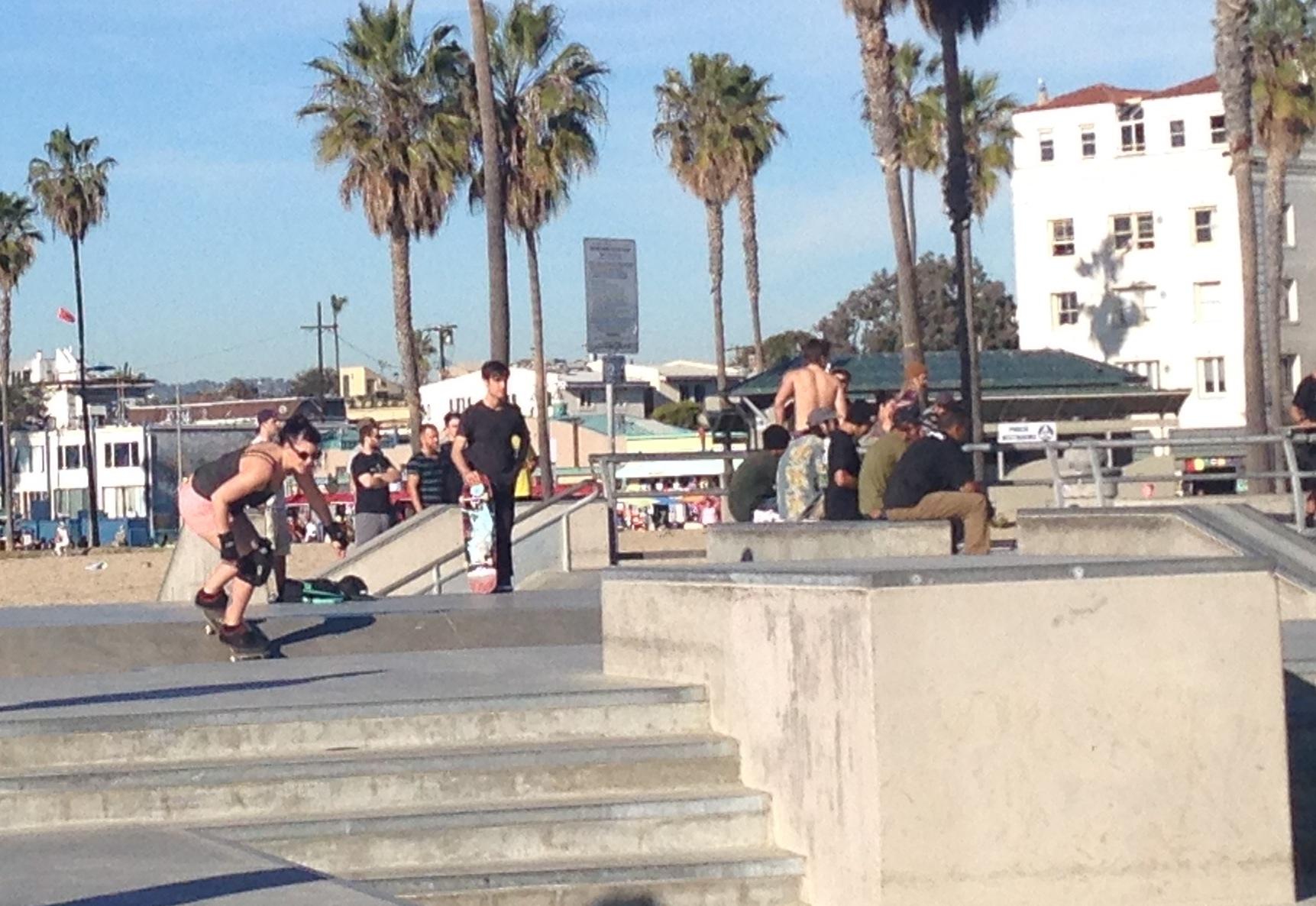 Skateboarding at Venice Beach