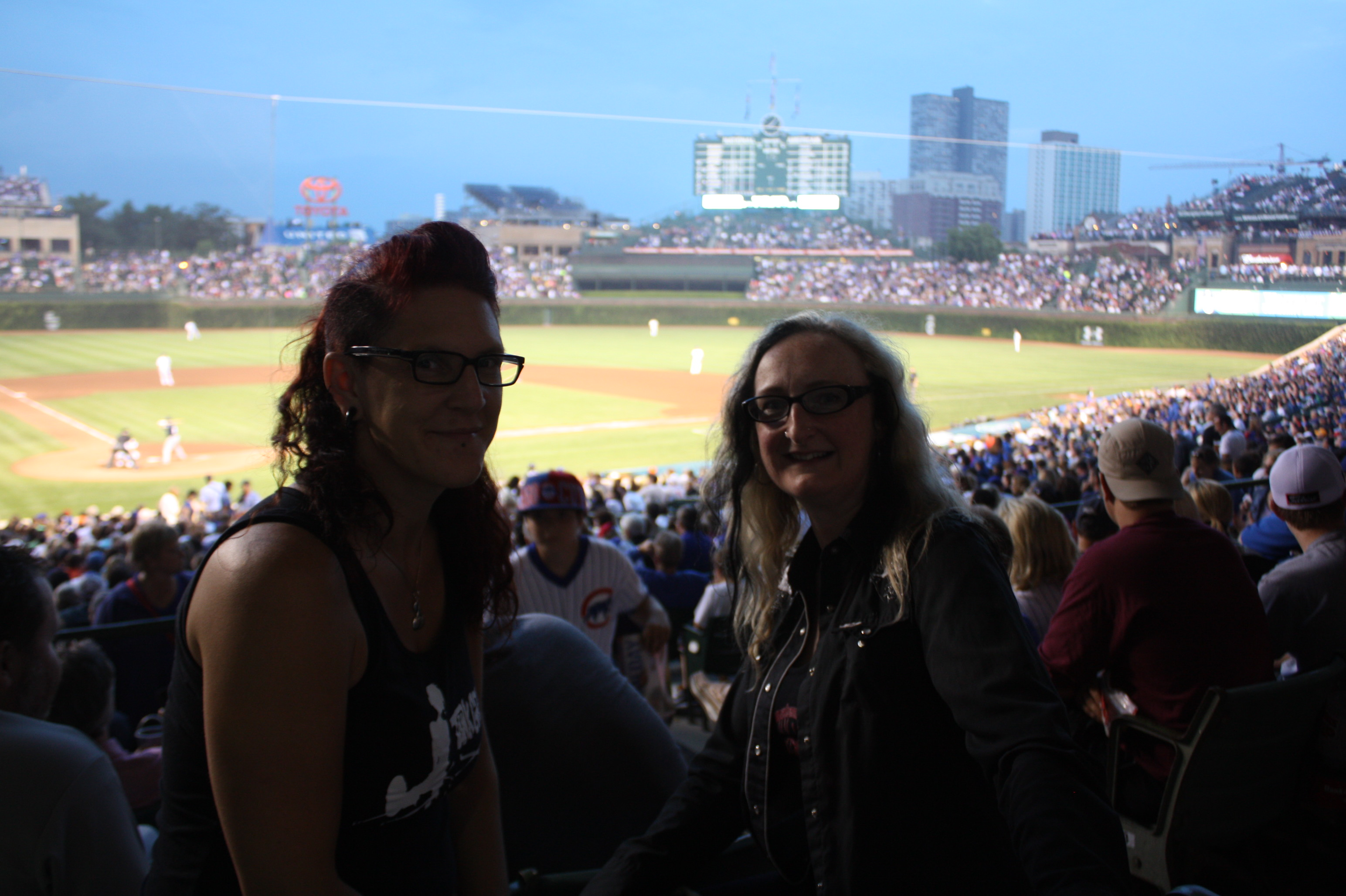 Watching Chicago Cubs at Wrigley Field