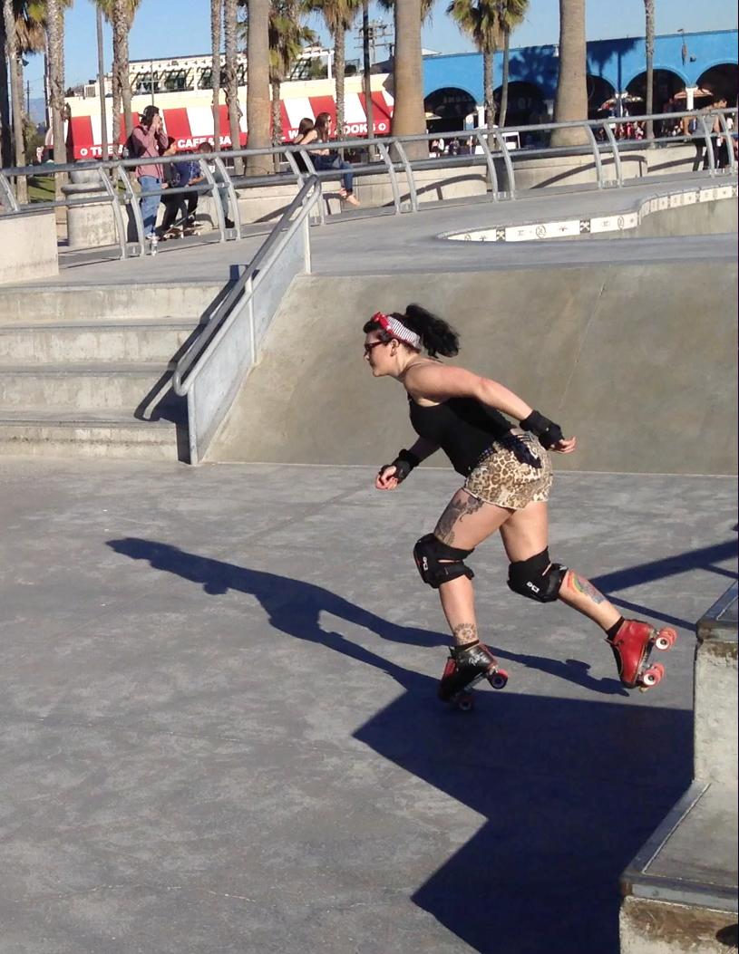 Roller skating Venice Beach