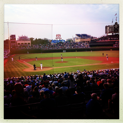 Watching the Chicago Cubs at Wrigley Field