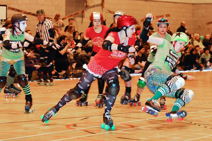 Perfect timed photo of me hitting the jammer